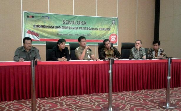 Pjb Gubernur Kepri Agung Mulyana di dampingi Deputi KPK dan Kejati