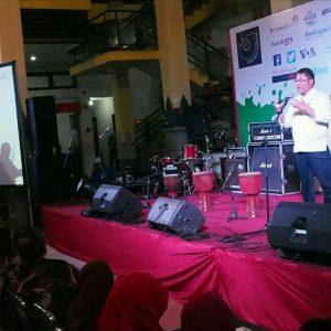 Meteri Komunikasi dan Informatika Rudiantara dalam pidatonya dalam pembukaan Festival Media digelar di Graha Solo, Kamis (23/11).