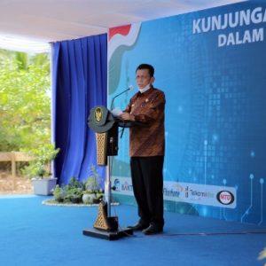 Gubernur Kepri Ansar Ahmad lagi menyampaikan kata sambutan
